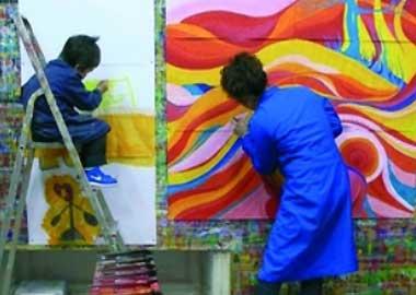 Sortie à Niort: Jeu de Peindre